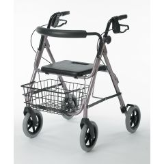 Guardian Envoy 480 Deluxe Rolling Walker - Rose - Click Image to Close