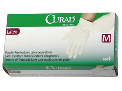Curad 3G Latex Powder-Free Exam Gloves