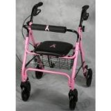 Medline Breast Cancer Awareness Pink 4 Wheeled Rollator