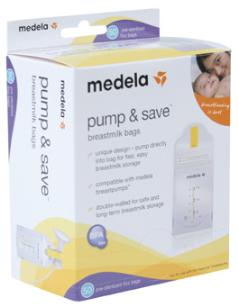 Medela Pump & Save Storage Bags 20pk