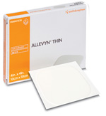 "Smith & Nephew 5447576 Allevyn 4 x 4"" Thin Dressing"